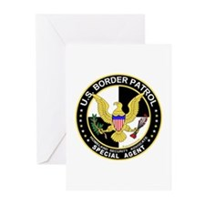 SecOurBdr US Border Patrol Sp Greeting Cards (Pack