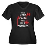 Keep Calm Women's Plus Size V-Neck Dark T-Shirt