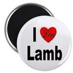 I Love Lamb Magnet
