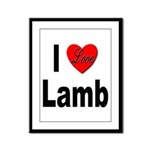 I Love Lamb Framed Panel Print