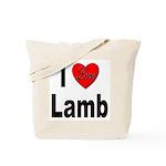I Love Lamb Tote Bag