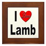 I Love Lamb Framed Tile