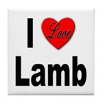 I Love Lamb Tile Coaster