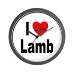 I Love Lamb Wall Clock