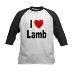 I Love Lamb Kids Baseball Jersey