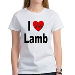 I Love Lamb (Front) Women's T-Shirt