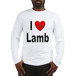 I Love Lamb (Front) Long Sleeve T-Shirt