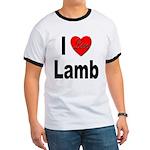 I Love Lamb (Front) Ringer T