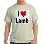I Love Lamb (Front) Ash Grey T-Shirt