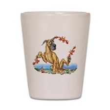 Great Dane Brindle Crabby Shot Glass