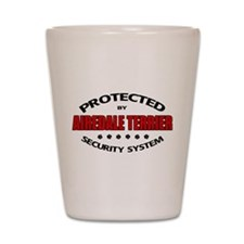 Airedale Terrier Security Sys Shot Glass