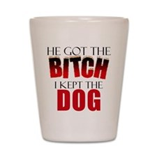 Dog Divorce Settlement Shot Glass