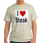 I Love Steak Ash Grey T-Shirt