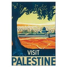 Vintage Palestine Travel Post