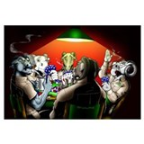 "23"" X 32"" :: Navy Chiefs (Goats) Poker Game::"
