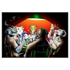 "23"" X 32"" :: Navy Chiefs (Goats) Poker Game::"