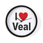 I Love Veal Wall Clock