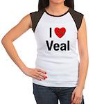 I Love Veal (Front) Women's Cap Sleeve T-Shirt