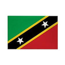 St. Kitts and Nevis Flag Rectangle Magnet