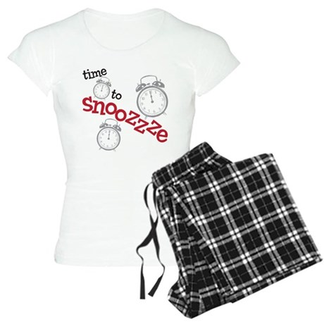 time to snooze (pjs) Women's Light Pajamas