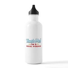 Trust Me Social worker Water Bottle