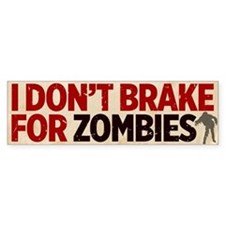Zombies Bumper Car Sticker