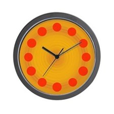 Poker Chips Pepperoni Pizza Clock