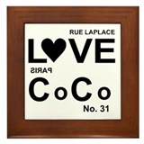 LOVE COCO Framed Tile