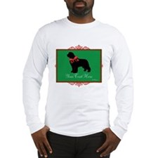 Holiday Newf - Your Text Long Sleeve T-Shirt
