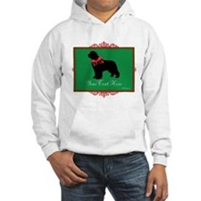 Holiday Newf - Your Text Hoodie