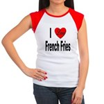 I Love French Fries Women's Cap Sleeve T-Shirt