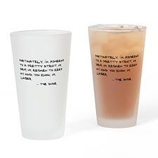 'Big Lebowski Quote' Drinking Glass