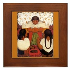 Diego Rivera Cala Lily Vendor Art Tile Framed Tile