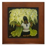 Diego Rivera Art Tile Framed Tile Cala Lilies
