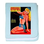 Eyeful Blonde Beauty Pin Up in Blue baby blanket