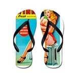 Wink Pouting Blonde Pin Up Beauty Flip Flops