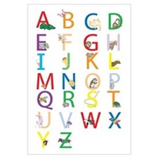 Cute Kids alphabet Wall Art