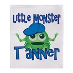 Little Monster Tanner Throw Blanket