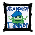 Little Monster Tanner Throw Pillow