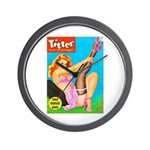 Titter Pin Up Girl with Black Stocking Wall Clock