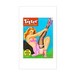 Titter Pin Up Girl with Black Stocking Sticker (Re
