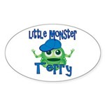 Little Monster Terry Sticker (Oval)