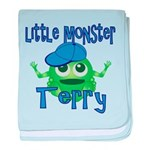 Little Monster Terry baby blanket