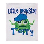 Little Monster Terry Throw Blanket
