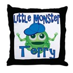 Little Monster Terry Throw Pillow