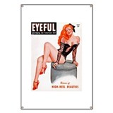 Eyeful Sitting Redhead Beauty Pin Up Banner
