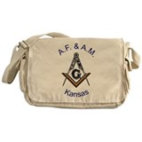 Kansas Square and Compass Messenger Bag
