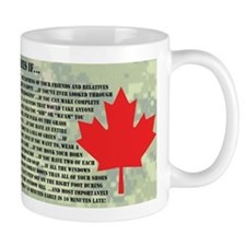 You Might Be in the Canadian Forces If... Mug