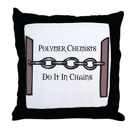 Polymer Chemists Throw Pillow