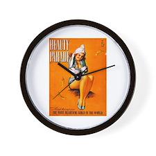 Beauty Parade Girl Pin Up Wall Clock